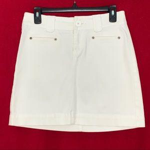 White House Black Market Blanc Women's Skirt Size0